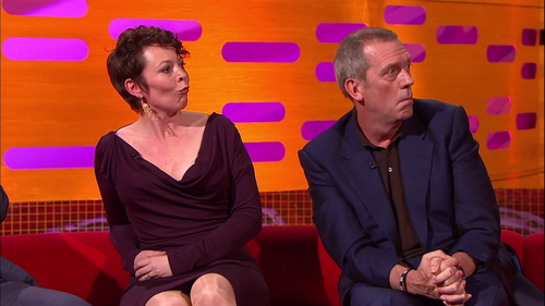 Hugh Laurie and Olivia Colman the Graham Norton onyesha 10.05.2013