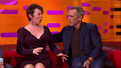 Hugh Laurie and  Olivia Colman the Graham Norton Show 10.05.2013