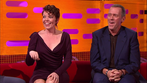 Hugh Laurie and Olivia Colman the Graham Norton 表示する 10.05.2013
