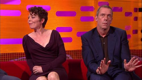 Hugh Laurie and Olivia Colman the Graham Norton mostrar 10.05.2013