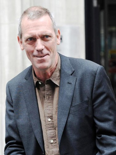 Hugh Laurie outside the BBC Radio 2 studios,.May 7, 2013