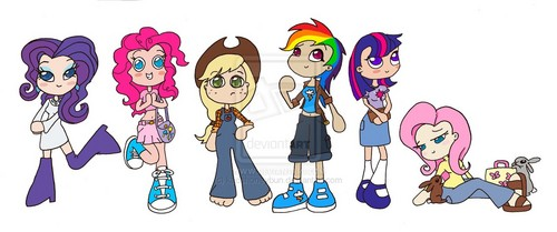 humanized my little pony achtergrond entitled Humanized MLP