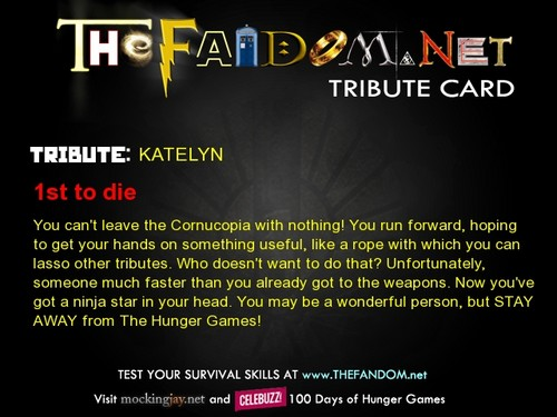 I won't survive the Hunger Games...