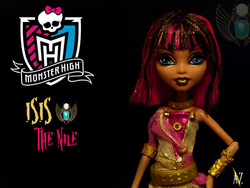 Monster High karatasi la kupamba ukuta titled Isis the Nile