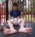JB's Bare Feet