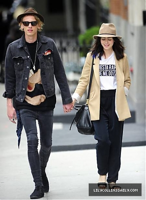 Jamie and Lily out in NYC (8th May 2013)