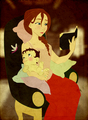 Jane and her baby - walt-disneys-tarzan fan art