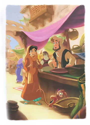 Aladdin and Jasmine wallpaper probably with anime called Jasmine