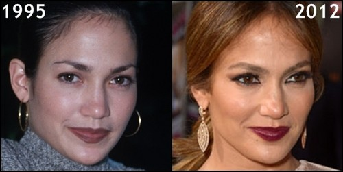 Jennifer Lopez then and now, before and after [1995, 2012]