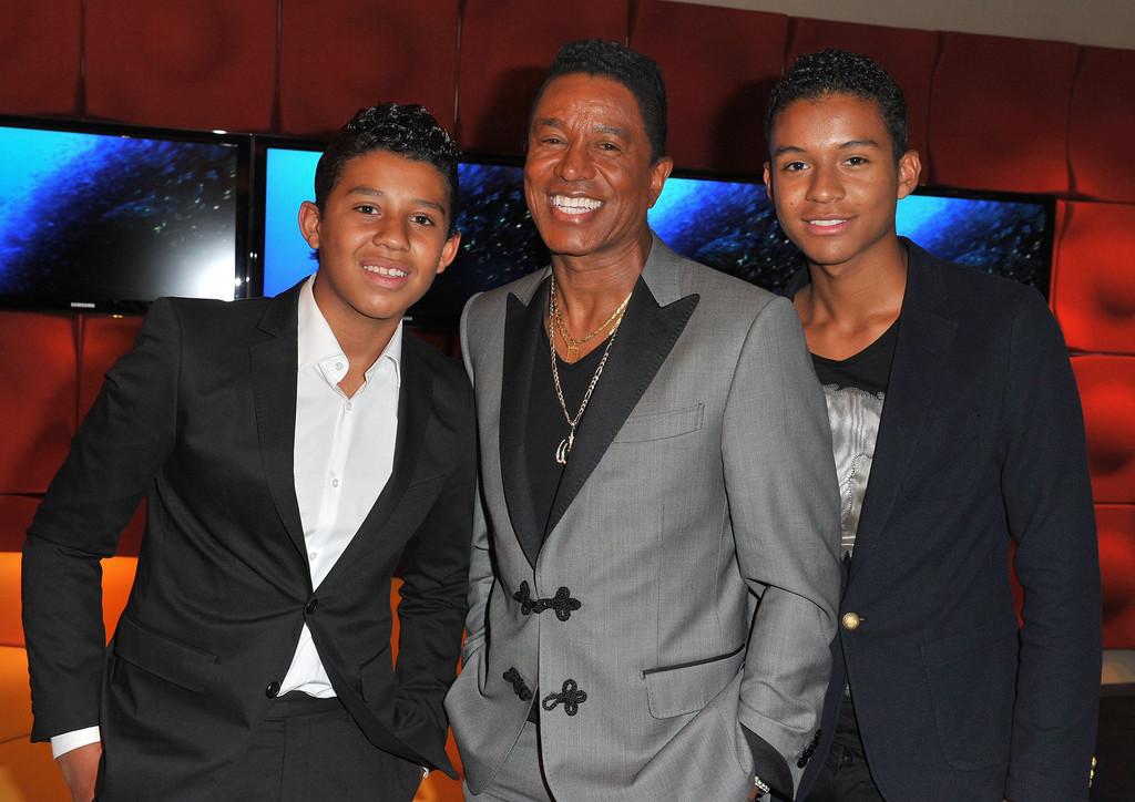Jermajesty Jackson, Jermaine Jackson and Jaafar Jackson ...