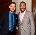Joseph Morgan and Charles Michael Davis at The CW's 2013 Upfront - joseph-morgan photo