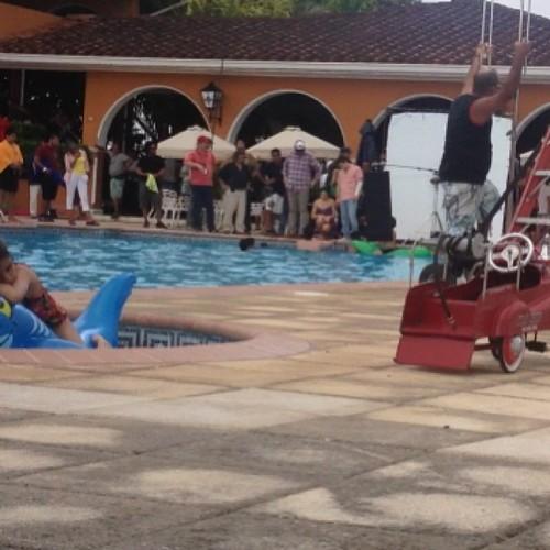 Josh filming 'Paradise Lost' in Panama