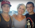 Josh with Connor and his mom - josh-hutcherson photo