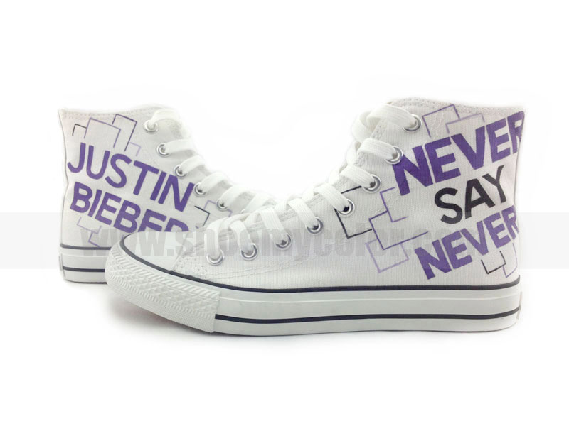 ... Bieber Never say never hand painted shoes wallpaper photos (34410946