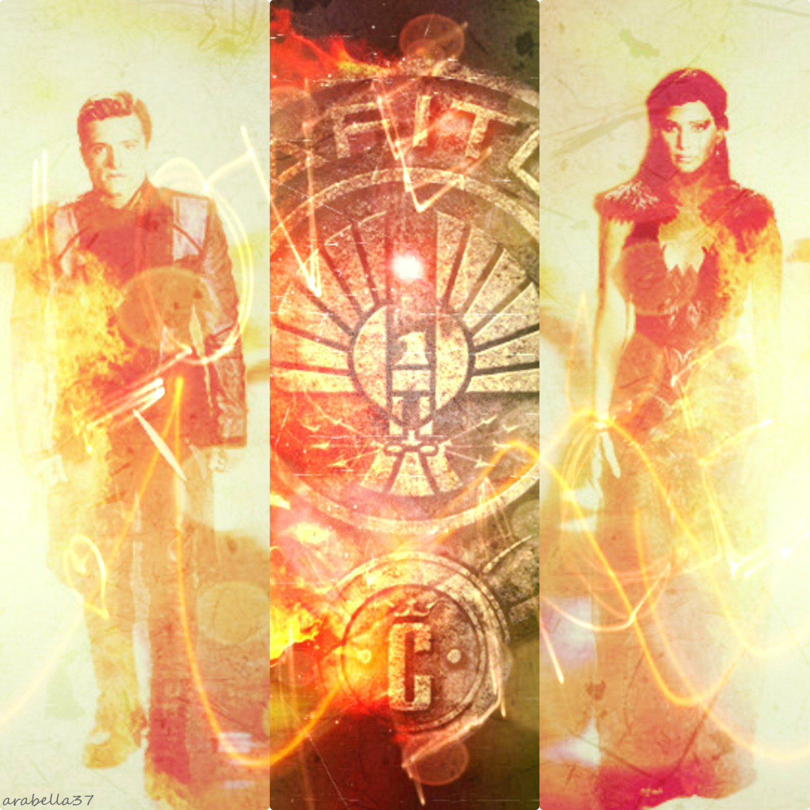Peeta & Katniss-Catching Fire - The Hunger Games Fan Art