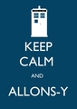 Keep Calm and upendo Doctor Who