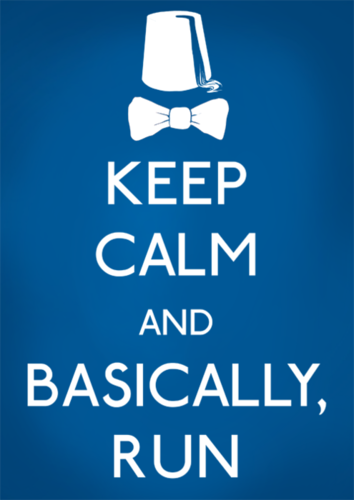 Keep Calm and প্রণয় Doctor Who