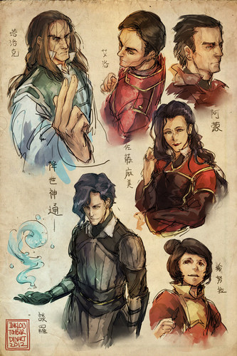 Avatar, La Légende de Korra fond d'écran containing animé entitled Korra Characters