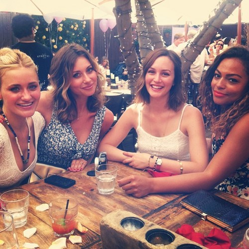 Leighton with friends