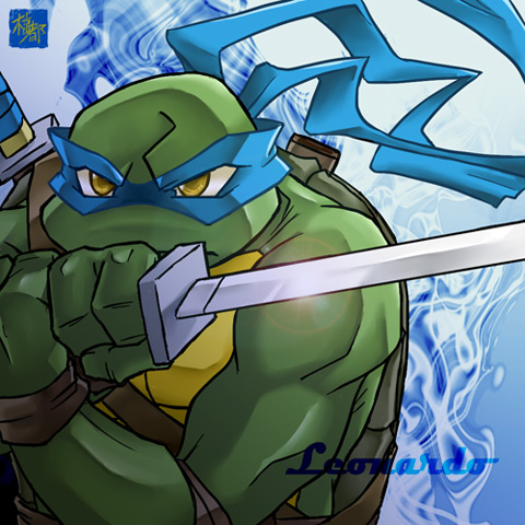 TMNT Leonardo achtergrond containing anime called Leonardo