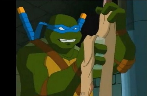 TMNT Leonardo fond d'écran possibly containing animé called Leonardo