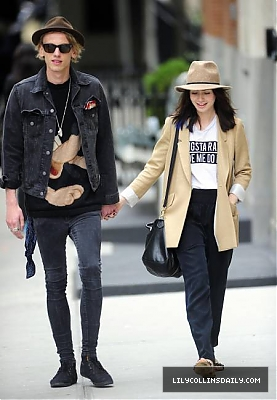 Lily out with her boyfriend Jamie (8th May 2013)