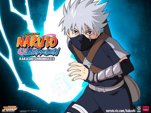 Kakashi wallpaper containing anime titled Little Kakashi with his Chidori