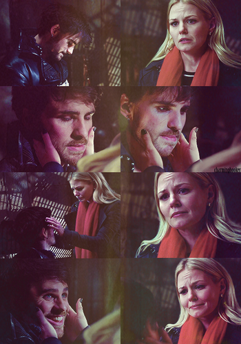Captain Hook and Emma Swan wallpaper called Love Hurts