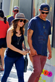 Lucy and Chris at The Grove - chris-zylka-and-lucy-hale photo