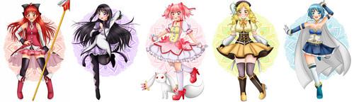 Mahou Shoujo Madoka Magica fondo de pantalla called Madoka Girls
