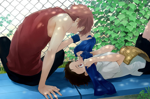 The Girl Who Leapt Through Time-Movie fond d'écran probably with a chainlink fence called Makoto and Chiaki
