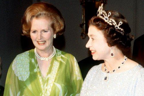 Margaret Thatcher and reyna Elizabeth