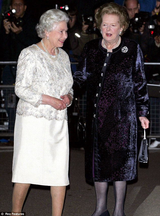 Margaret Thatcher and reyna Elizabeth