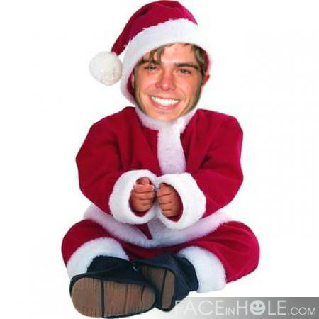 Matthew as a cute Santa