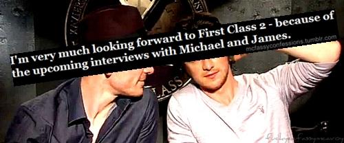 James McAvoy and Michael Fassbender वॉलपेपर entitled McFassy Confessions ★