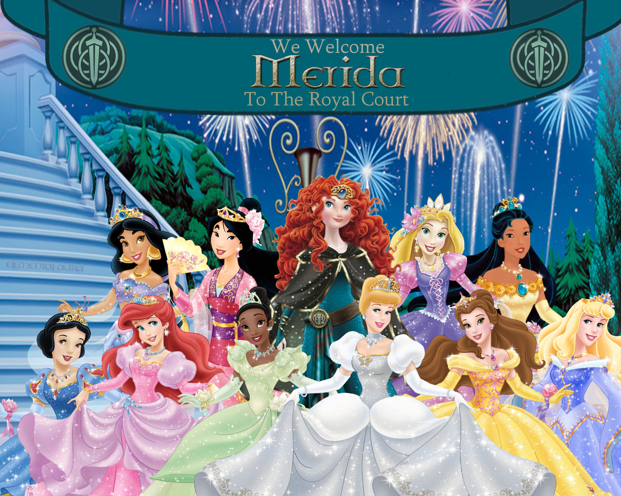 Merida joins the Royal Court