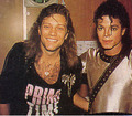 Michael Backstage With Jon Bon Jovi - the-bad-era photo