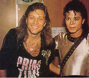 Michael Backstage With Jon Bon Jovi