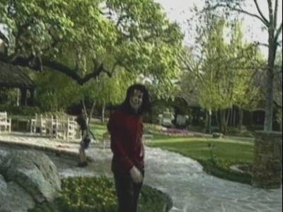 Michael Being Thrown In The Pool At Neverland