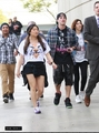 Michael Trevino and Jenna Ushkowitz arriving at a Clippers game in LA (April 7) - michael-trevino photo