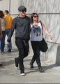 Michael Trevino and Jenna Ushkowitz arriving at a Lakers game in LA (April 28) - michael-trevino photo