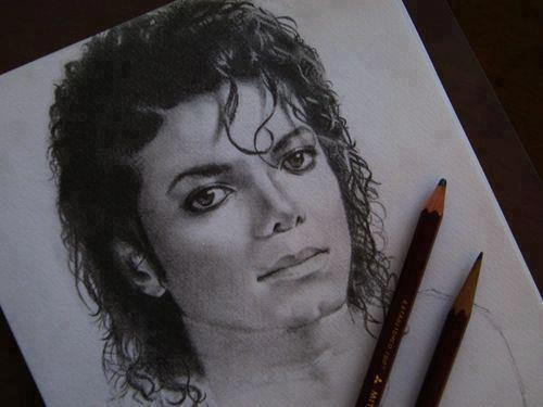 Michael Jackson achtergrond probably containing a claymore and a dolk, dirk titled Michael - drawings