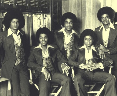 Michael with his brothers