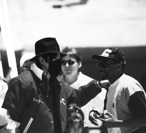 Michael with Spike Lee - February 1996