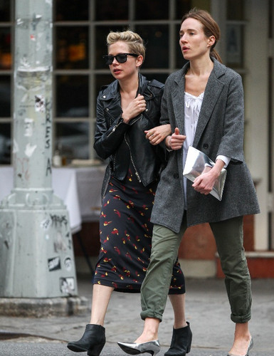 Michelle Williams with a friend in Soho - (May 07, 2013)
