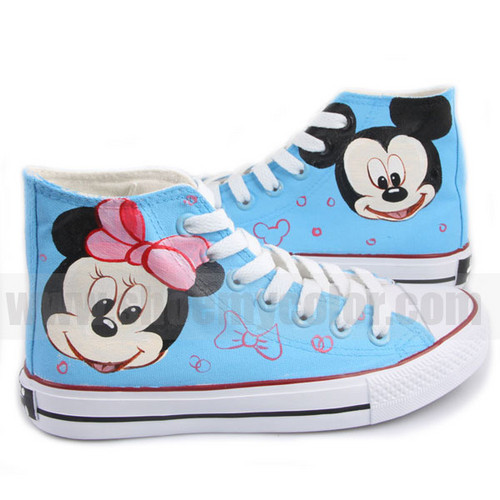Mickey Mouse hand painted shoes