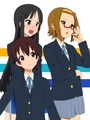 Mio,Ritsu (wearing nodoka's glasses) and Nodoka - k-on photo