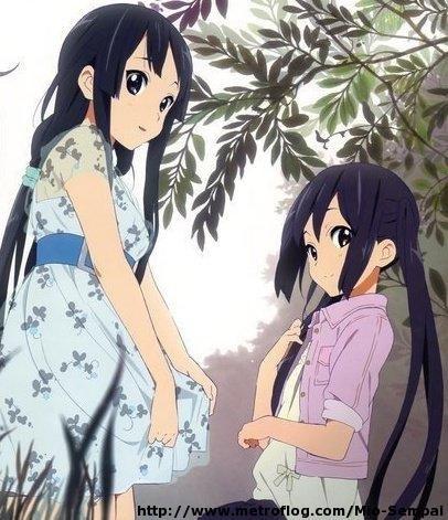 Mio and Azusa