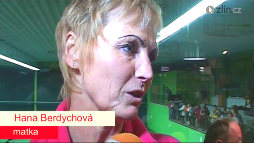 Mother Berdych has nasty, painted eyebrows
