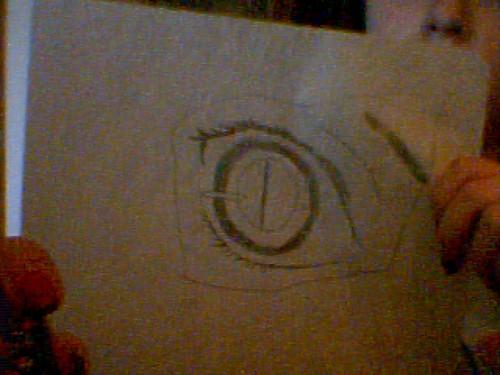 My drawing of an animê eye